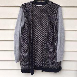 Hinge Cardigan L Sweater Textured Slouchy Angora